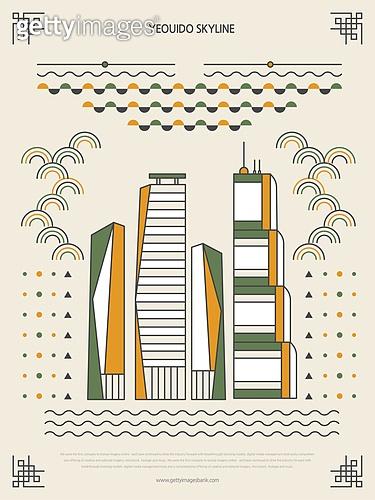 패턴, 도형, 기하학모양 (도형), 랜드마크, 한국전통문양 (패턴), 한국전통, 고층빌딩 (회사건물)