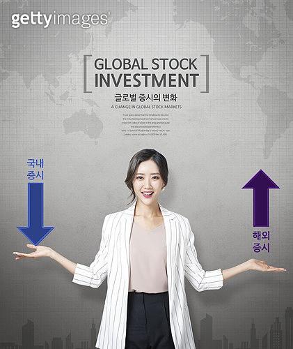 그래픽이미지, 편집디자인, 금융, 비즈니스, 주식시장 (금융), 해외주식, 거래, 투자, 기업, 스타트업, 세계지도, 무역협정, 희망, 발전 (컨셉)