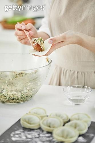 요리하기 (음식준비), 쿠킹클래스 (가정학수업), 만두 (한식), 만두피 (만두), 왕만두, 만두소