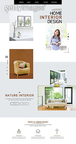 웹템플릿, 메인페이지 (이미지), 이벤트페이지, 인테리어, 인테리어 (모델하우스), 가구, 여성, 휴식