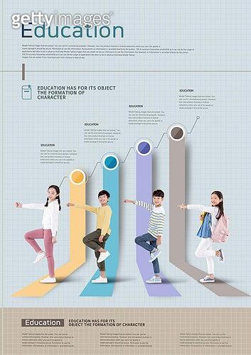 그래픽이미지, 편집디자인, 교육 (주제), 학교건물 (교육시설), 학원, 공부 (움직이는활동), 아이디어 (컨셉), 성적표 (보고서), 올라가기 (움직이는활동), 그래프, 학생, 초등학생