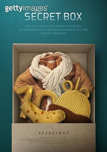 그래픽이미지, 편집디자인, 쇼핑 (상업활동), 오브젝트 (묘사), 탑앵글 (카메라앵글), 상업이벤트 (사건), 선물 (인조물건), 럭키박스 (상자), 해외직구 (상업활동)