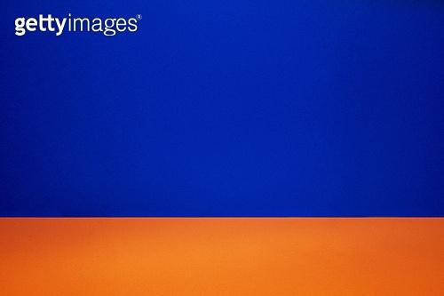 레트로스타일 (컨셉), 뉴트로, 20세기스타일 (스타일), 백그라운드, 파랑, 주황, 컬러