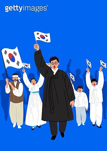 3.1운동 (세계역사사건), 독립운동가, 태극기, 광복절 (한국기념일), 군중