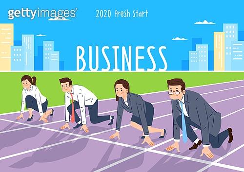 사람, 비즈니스, 화이트칼라 (전문직), 희망 (컨셉), 성공, 시작, 육상경기 (스포츠)