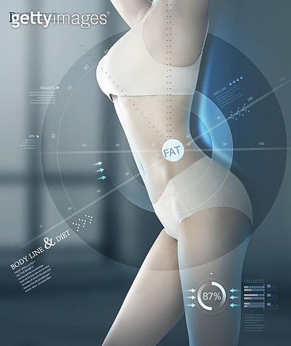 그래픽이미지, 편집디자인, 뷰티, 다이어트, 의료성형뷰티 (주제), 바디라인 (날씬함), 누드, 인포그래픽, 다이어트 (체형관리), 여성