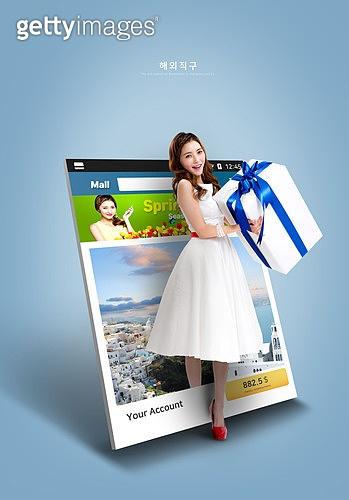 그래픽이미지, 쇼핑 (상업활동), 이벤트페이지, 세일 (상업이벤트), 해외직구 (상업활동), 인터넷뱅킹 (전자상거래), 배달 (일), 배송지연 (배송안내), 여성, 온라인쇼핑