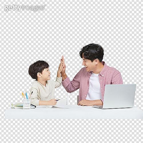 누끼 (누끼), PNG, 가족, 아빠, 아들, 공부, 개인레슨 (가르침), 초등학생