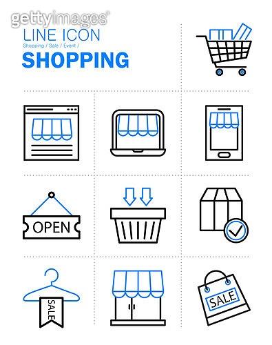 아이콘, 아이콘세트 (아이콘), 라인아이콘, 쇼핑, 세일, 이벤트, 모바일결제, 배송