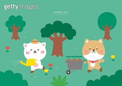 식목일, 캐릭터, 기념일, 연례행사 (사건), 나무, 새싹, 시바이누 (순종개)