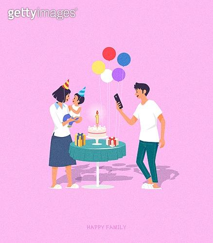 사람, 가족, 라이프스타일, 라이프스타일 (주제), 함께함 (컨셉), 생일 (사건), 부부, 커플, 풍선