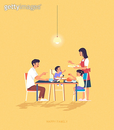 사람, 가족, 라이프스타일, 라이프스타일 (주제), 함께함 (컨셉), 부부, 커플, 어린이 (나이), 식탁, 식사