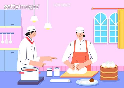 벡터 (일러스트), 취미, 여가 (주제), 휴식 (정지활동), 요리 (음식상태), 베이킹