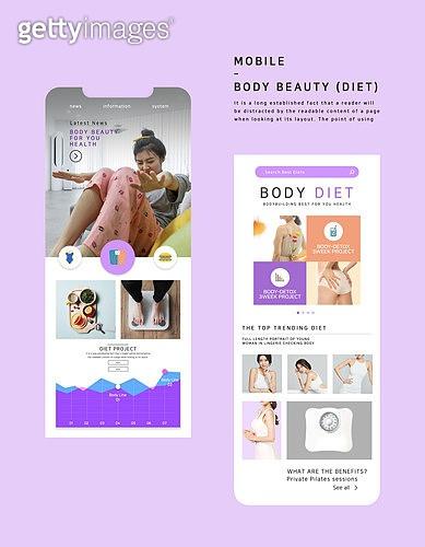 웹템플릿, 메인페이지 (이미지), 레이아웃, 운동, 건강관리 (주제), 다이어트, 여성, 바디라인 (날씬함), 휴대폰 (전화기)