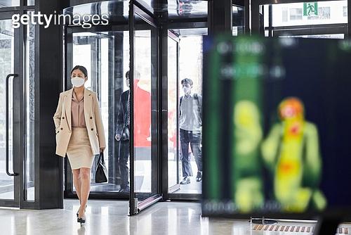 코로나바이러스, 코로나19 (코로나바이러스), 사회적거리두기, 위기극복 (컨셉), 질병예방, 열화상카메라 (카메라)