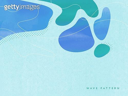 백그라운드, 물결, 곡선, 여름, 파랑 (색)