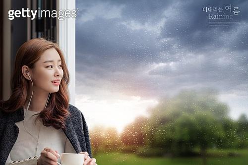 그래픽이미지, 비 (물형태), 날씨, 풍경 (컨셉), 여름, 장마 (계절), 빗방울