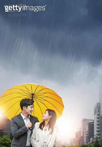 그래픽이미지, 비 (물형태), 날씨, 풍경 (컨셉), 여름, 장마 (계절), 우산 (액세서리)