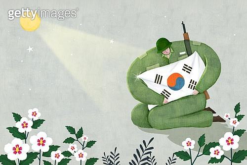 호국보훈의달 (한국기념일), 기념일 (사건), 태극기, 태극무늬 (한국전통), 무궁화, 한국전쟁 (역사적전쟁), 전쟁, 군인