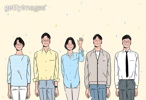 노인 (성인), 장년 (성인), 희망 (컨셉), 밝은표정, 웃음 (얼굴표정), 앞모습 (카메라앵글), 여러명[3-5] (사람들)
