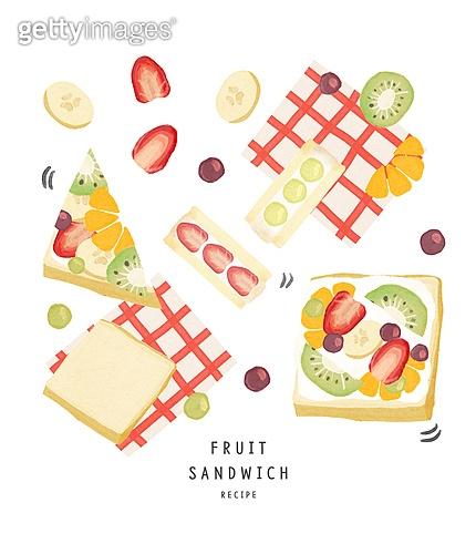 수채화 (회화기법), 음식, 레시피, 음식재료, 요리 (음식상태), 샌드위치, 과일