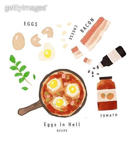 수채화 (회화기법), 음식, 레시피, 음식재료, 요리 (음식상태), 토마토, 베이컨