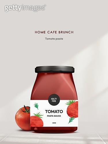 포장 (인조물건), 목업, 백그라운드, 병 (용기), 그림자, 토마토, 토마토소스