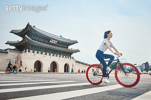 운동, 건강관리, 광화문 (경복궁), 자전거, 사이클링 (움직이는활동)