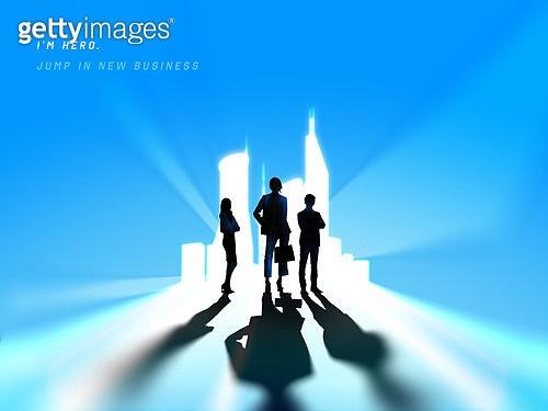강렬한빛 (발광), 비즈니스, 스타트업, 시작, 실루엣, 희망 (컨셉), 낙천적 (컨셉), 미래, 눈부신빛 (발광), 도전, 팀워크
