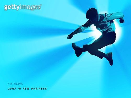 강렬한빛 (발광), 비즈니스, 스타트업, 시작, 실루엣, 희망 (컨셉), 낙천적 (컨셉), 미래, 눈부신빛 (발광), 도전