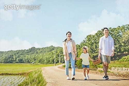 한국인, 행복, 어린이 (나이), 가족, 딸기, 유기농농장