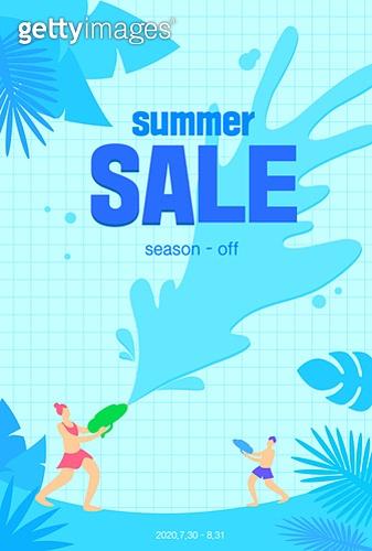 여름,세일,쇼핑,일러스트