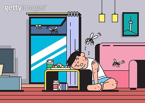 여름, 모기, 해충, 스트레스