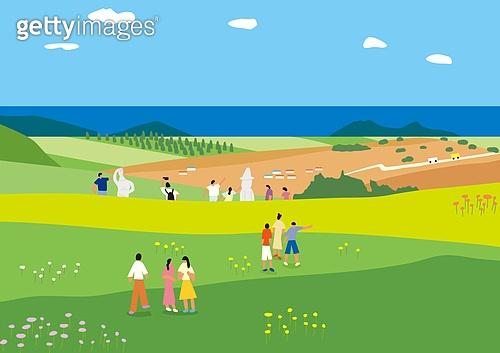 풍경 (컨셉), 자연 (주제), 제주도 (대한민국), 공원, 풀 (식물), 바다