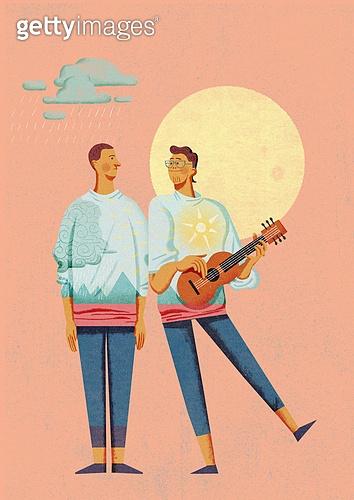 위로, 용기 (인조물건), 희망 (컨셉), 정신건강, 사람, 기타 (현악기), 보름달