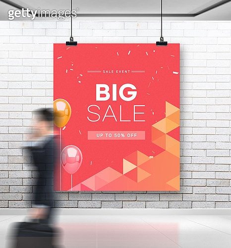 그래픽이미지, 쇼핑 (상업활동), 거리 (도시도로), 간판 (표지판), 광고게시판, 목업 (이미지), 배너 (템플릿)
