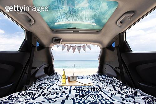 차박캠핑 (캠핑), 자동차, 캠핑, 해변 (해안)
