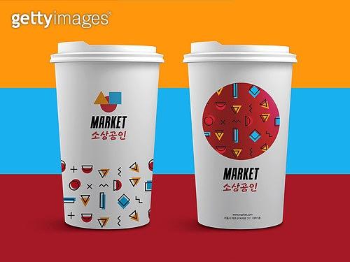 상인 (소매업자), 스타트업, 패턴, 목업, 비즈니스, 가게, 일회용컵 (컵)