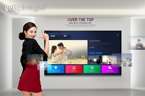 Smart TV (Television Set), 콘텐츠, 영화, 스트리밍 (기술), OTT, 텔레비전프로그램 (엔터테인먼트이벤트), 집콕 (컨셉), 비대면 (사회이슈)