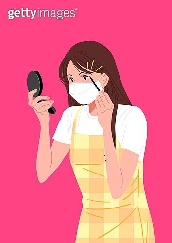 마스크 (방호용품), 색조화장 (화장품), 비즈니스우먼, 화이트칼라 (전문직), 스트레스