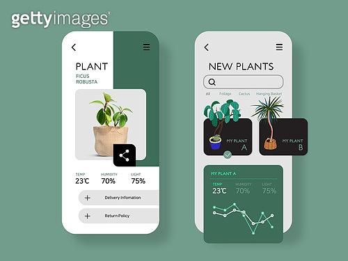 모바일템플릿, Graphical User Interface (Topic), 집콕 (컨셉), 비대면 (사회이슈), 취미, 반려식물, 원예 (레저활동)