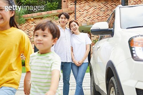 가족, 전원생활 (컨셉), 미소, 밝은표정, 만족 (컨셉)