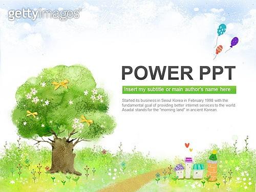 PPT,파워포인트,메인페이지,풍경,나무,들판,마을