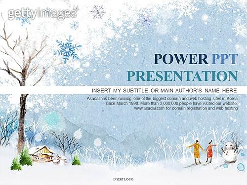 PPT,파워포인트,메인페이지,겨울,눈,눈사람,나무,풍경,배경