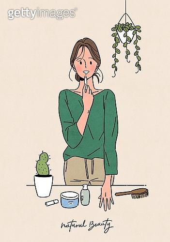 뷰티, 식물, 화분, 편안함 (컨셉), 자연스러움 (컨셉), 라이프스타일, 립밤, 선인장