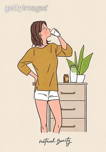 뷰티, 식물, 화분, 편안함 (컨셉), 자연스러움 (컨셉), 라이프스타일, 영양제, 건강한생활 (주제)