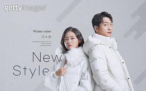 겨울, 상업이벤트 (사건), 세일 (상업이벤트), 쇼핑 (상업활동), 따뜻한옷 (옷), 패딩