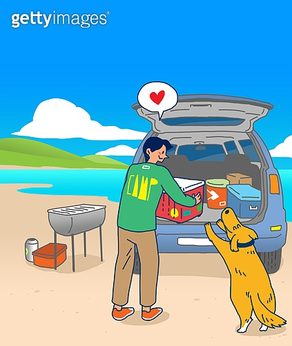 일러스트, 캠핑, 차박캠핑 (캠핑), 여행, 여가 (주제), 아웃도어