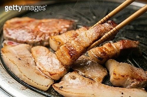 돼지고기, 젓가락, 구이, 한식