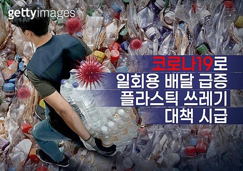 사회이슈 (주제), 환경오염, 코로나19 (코로나바이러스), 플라스틱, 쓰레기 (물체묘사), 배달 (일), 일회용 (상태)